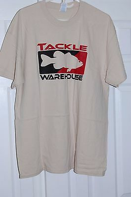 tackle warehouse mens short sleeve tee t shirt xl beige sand color fishing xl