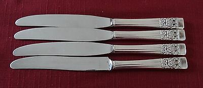Community Silverplate CORONATION Lot of 4 Knives 8 3/4""