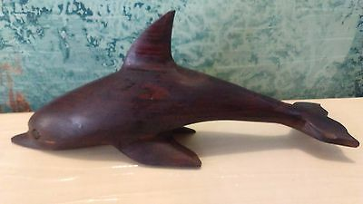 RARE Mexican Ironwood handcrafted dolphin figure