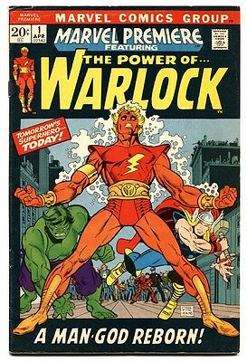 Marvel Premiere #1 comic book Warlock Begins Marvel MCU Nice Copy 1971