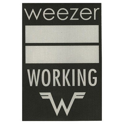 Weezer authentic Working * tour Backstage Pass