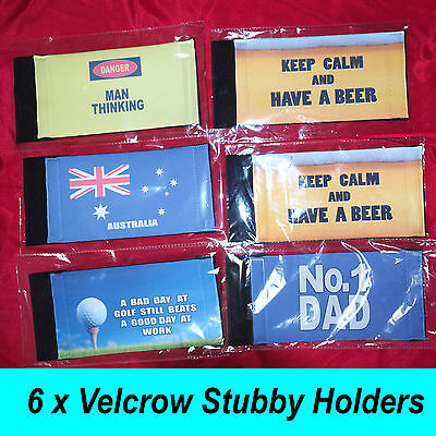 6 X Stubby Can / Beer Holders