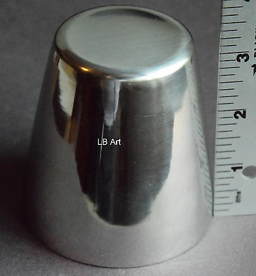 """New Mini 3"""" Tall Stainless Steel Fused Glass Drape Floral Former Slumper Mold"""