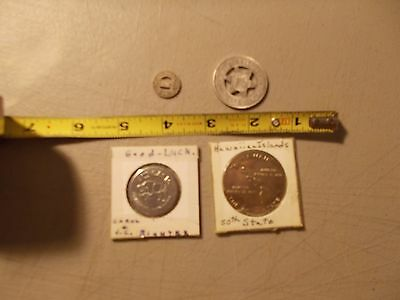 Lot Of 4 Tokens Hawaii 50Th State , Al's Oasis Good Luck , Uss New Meico ,1 Fare