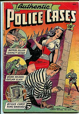 Authentic Police Cases #5 1948-St John-bondage-torture-Good Girl Art-VG