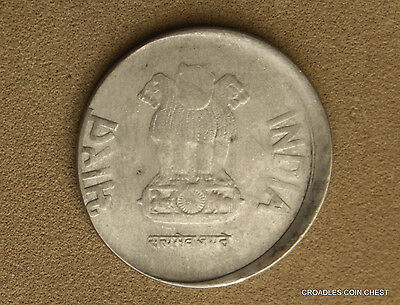 Good Off Centre Misstrike India 2 Rupee 2011 Circulated World Coin  #rt264