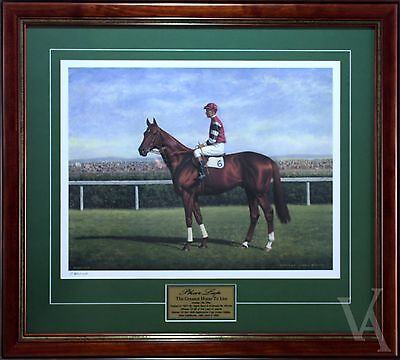 Phar Lap The Greatest Horse To Live Signed & Framed Horse Racing Memorabilia