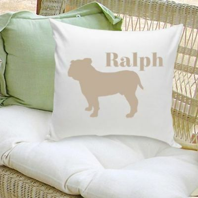Personalized Decorative Dog Silhouette Throw Pillow Dog Lover Gift 16 x16