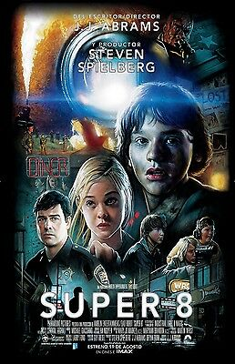 Super 8 movie poster print 11 x 17 inches Elle Fanning, Kyle Chandler