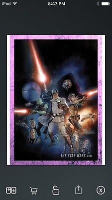 Topps Star Wars Digital Card Trader Pink Evolution: Comics Star Wars Insert