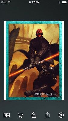 Topps Star Wars Digital Card Trader Teal Evolution: Comics Tales Insert