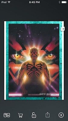 Topps Star Wars Digital Card Trader Teal Evolution: Comics Darth Maul Insert