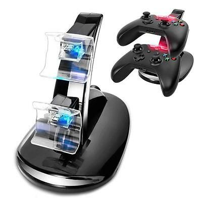 Dual USB Charging Charger Docking Station Stand for Xbox One Controller