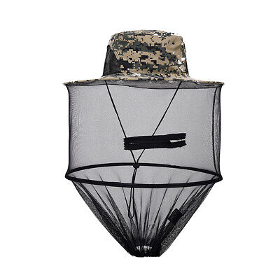 Mosquito Bee Insect Mesh Head Face Protect Fishing Hunting Net Hat Mask Cap