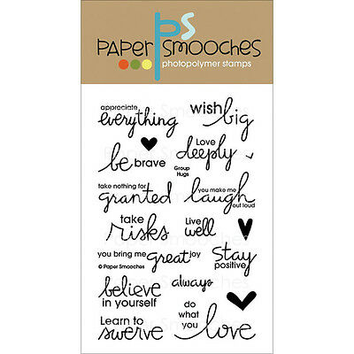 """Paper Smooches Clear Stamps 4""""X6"""" -Group Hugs"""