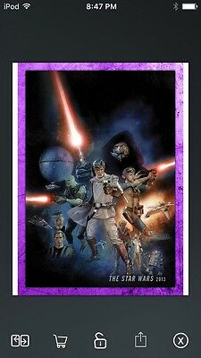 Topps Star Wars Digital Card Trader Purple Evolution: Comics Star Wars Insert