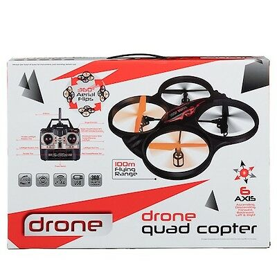 BNIB Sky King Drone Quad Copter 360 Flips 6 Axis Movement 100m Toys Gifts RC