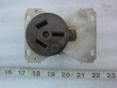 Slater 50A 125/250V Hubbell 7963 Style Straight Blade Receptacle 10-50R, Used