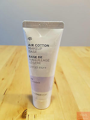 Brand NEW THE FACE SHOP Air Cotton Make UP Base 40ml SPF30 PA++ #02 Lavender40ml