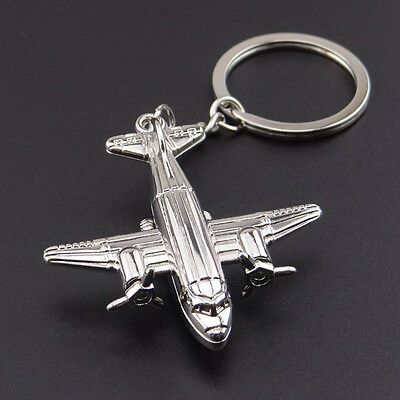 Wholesale Creative 3D Airplane Alloy Keychain Key Ring Pendant Collectable Gifts