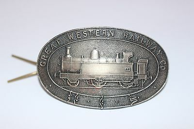 Great Western Railway Co Cap Badge metal with fixing Train memorabilia VTG B48