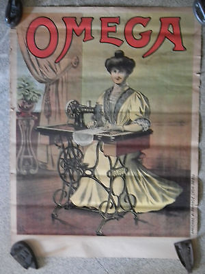 Affiche ancienne pour machine coudre omega eur 90 00 for Machine a coudre omega