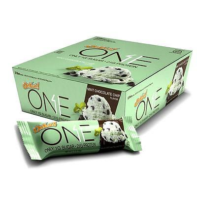 NEW Oh Yeah! One Bar Mint Chocolate Chip 12pk 21g Protein Energy Gluten-Free