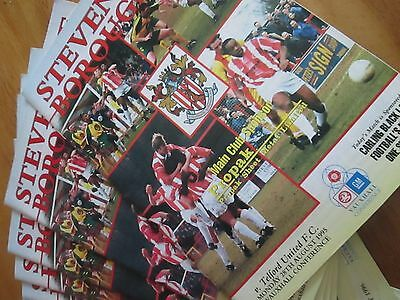 Stevenage Borough v Hednesford Town Vauxhall Conference 1995/96 FREE POST