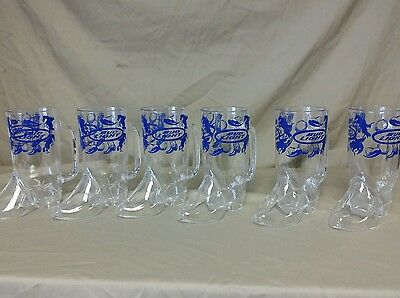 Lot of 6 New Bud Light Plastic Boot Cups 16oz