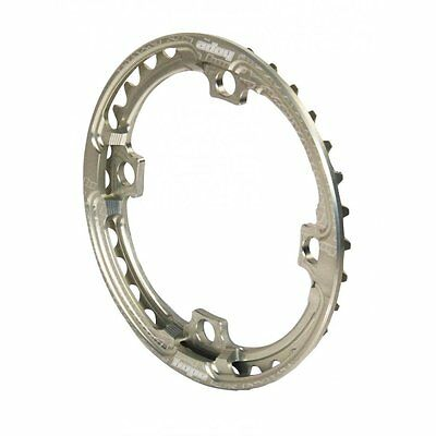 Hope Integrated Chainring Bash Ring - Silver CNC Aluminium