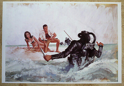 SCUBA DIVER ATTACK Robert McGinnis THUNDERBALL James Bond Claudine Auger Connery