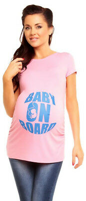 Pink Baby On Board Maternity Tee Fun Different Shirt Cute Shower Gift Cool Blue