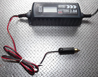 4A OPTIMISER BATTERY CHARGER HELLA DIN PLUG CAR CAMPER VAN CARAVAN MOTORHOME 12v