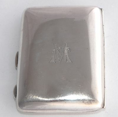 1918 Sterling Silver COHEN & CHARLES Ladies (Small) Cigarette Case - Gilt Wash
