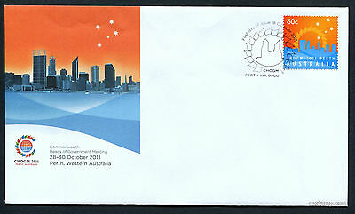 2011 CHOGM Perth FDC First Day Cover Stamps Australia
