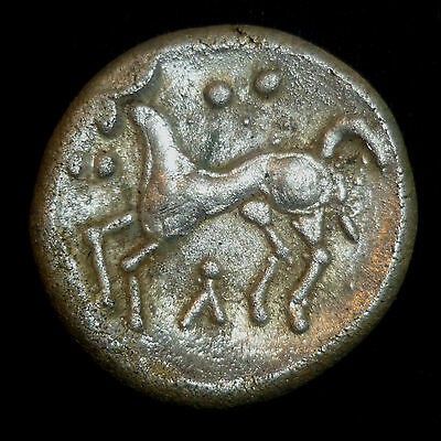 """Celtic Silver Coin,  """"Aunt Cost"""" Type c.AD 15-40"""