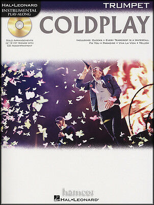 Coldplay Trumpet Instrumental Play-Along Sheet Music Book with Backing Tracks CD