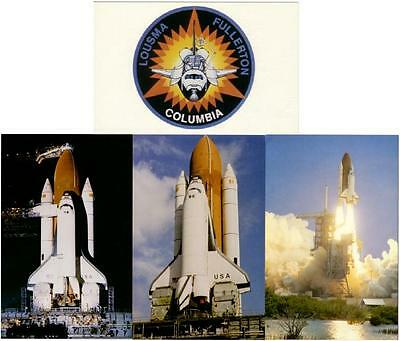 Space Shuttle Columbia STS-3 Mission Lot of 4 Postcards