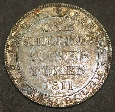 Scarborough Yorkshire Lord & Marshall 1811 One Silver Shilling Token