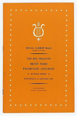 1950 Henry Wood Proms Winter Season programme, 11th January, Sir Malcolm Sargent