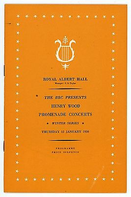 1950 Henry Wood Proms Winter Season programme, 12th January, Sir Malcolm Sargent