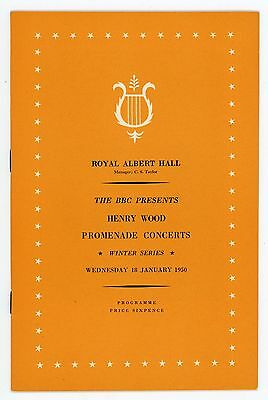 1950 Henry Wood Proms Winter Season programme, 18th January, Sir Malcolm Sargent