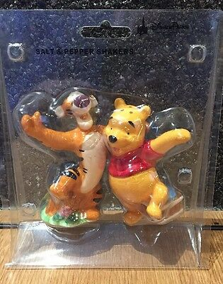 Disney Parks Salt & Pepper Shaker Set. Winnie The Pooh And Tigger Genuine Disney