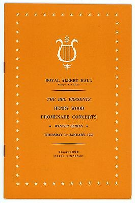1950 Henry Wood Proms Winter Season programme, 19th January, Sir Malcolm Sargent