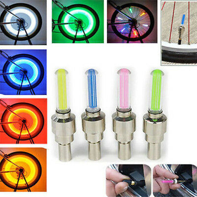Mountain Bike Cycling Bicycle Wheel Accessories Valve Light Night Warning Lamp