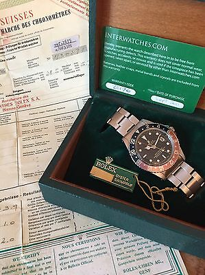 Rare Rolex GMT 1675 PCG with Box & Papers  1961