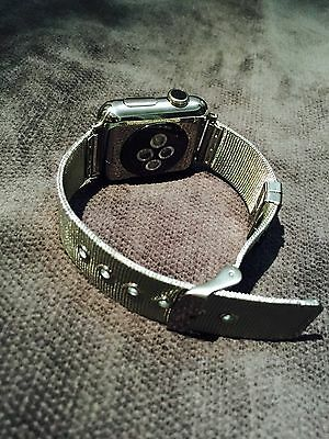 Apple WATCH 38mm Stainless Steel Band W/ iWatch + FREE Protector