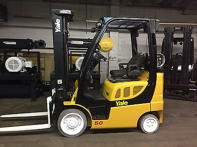2012 Yale 5000 Lb Forklift With Sideshift Triple Mast Rental Specs