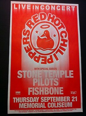 Red Hot Chili Peppers Stone Temple Pilots Concert Original Flyer Tour Poster