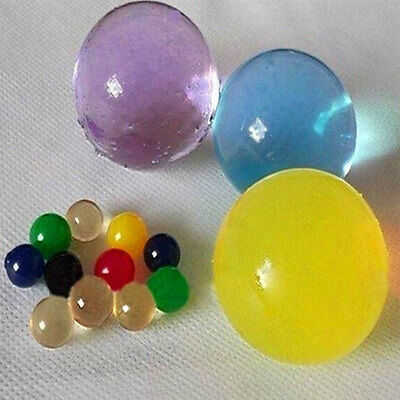 Colorful Large Crystal Soil Water Swelling Beads Grow Balls Wedding Decor